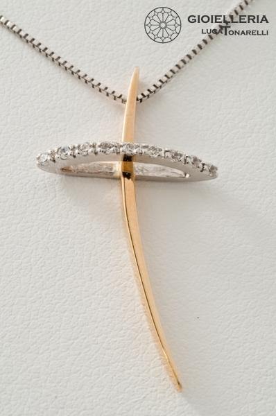 Collana Oro Donna 18kt Croce Co13 Collane Oro Vendita