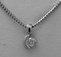 Diamond necklace gold woman gb31883hcg