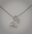 Diamond necklace gold 18 kt valenza gbx33033hbc