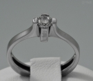 Diamond solitaire ring woman gold b018fca